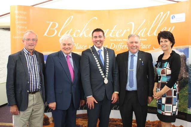 Mayor of the County of Cork Cllr. John Paul O' Shea with Chairman of Avondhu Blackwater Partnership John Carroll, CEO Valerie Murphy and board members Sean Hegarty and Cllr. Danjoe Fitzgerald.