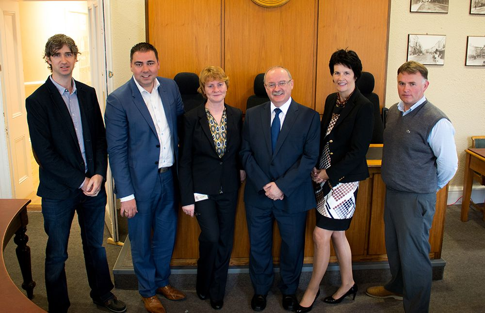 (Pictured above L-R are Mr. Niall Walsh, Development Officer, Avondhu Blackwater, Cllr. John Paul O'Shea, Ms. Liz O'Donovan, MDO, Kantur, Mr. James Fogarty, Divisional Manager, CCC, Ms. Valerie Murphy, CEO, Avondhu Blackwater Partnership and John O'Dell, Engineer, KMMD)