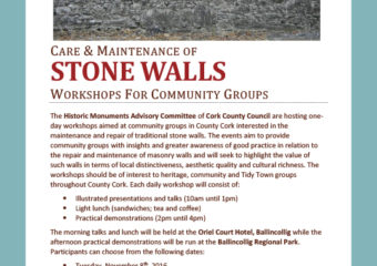 Care and Maintenance of Historic Marsonary Walls Workshop