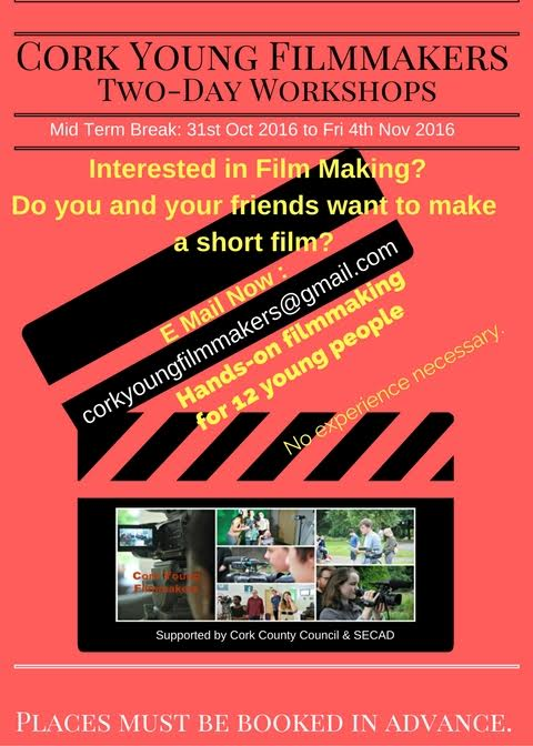 Make A Short Film A Two Day Film Making Workshop In Mallow
