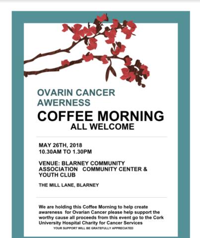 OVARIAN CANCER AWARENESS COFFEE MORNING - Avondhu Blackwater